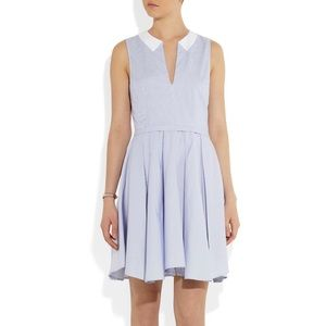 Band Of Outsiders   Striped Blue Cotton Dress